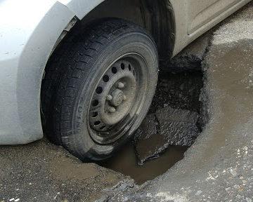 Попал в яму на дороге ДТП